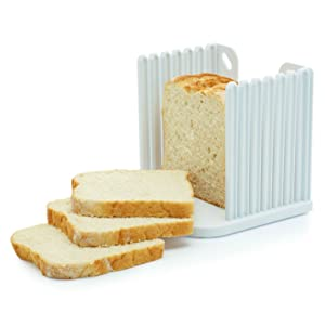 expandable bread keeper with slicing guide