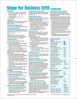 skype for business quick reference guide
