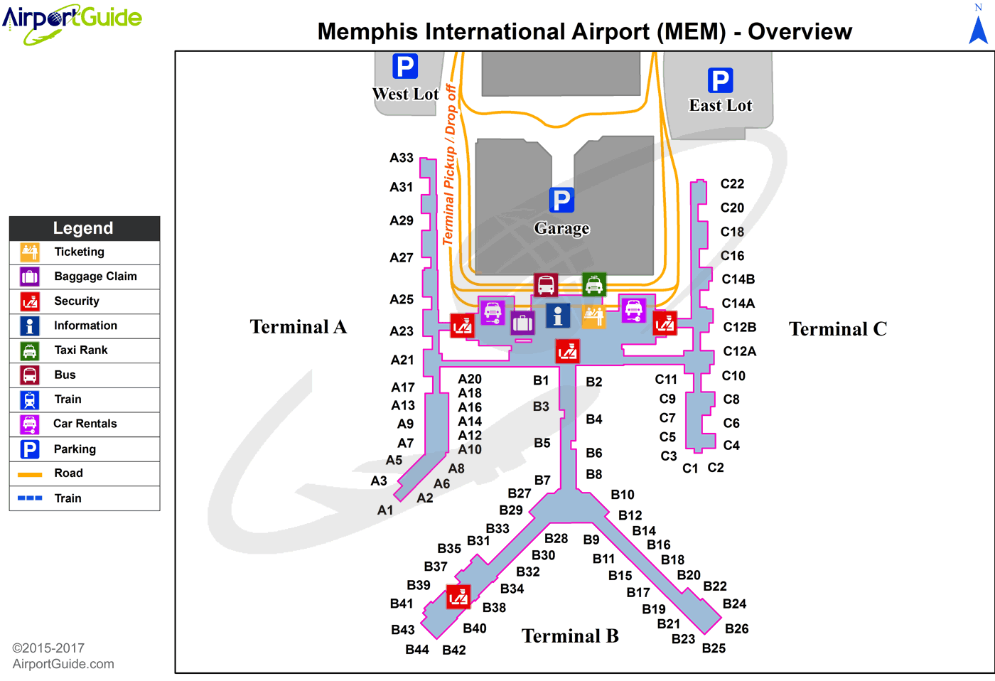 memphis map and tourist guide