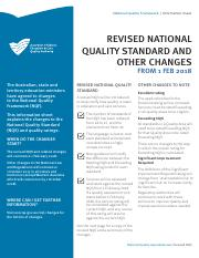 guide to the national quality standard 2018