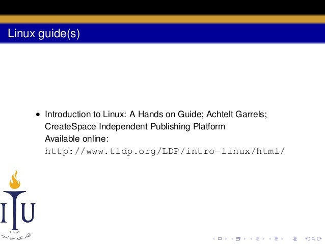 introduction to linux a hands on guide