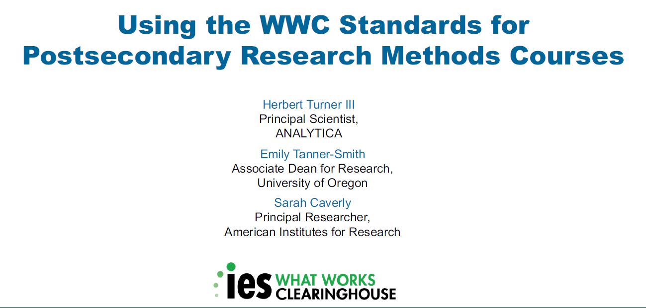 what works clearinghouse practice guides