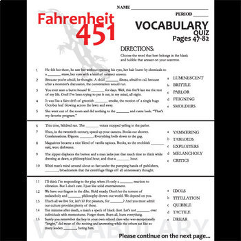 fahrenheit 451 study guide answers pdf