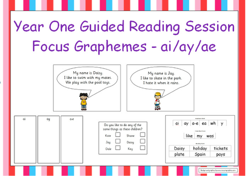 guided reading activities year 1 tes