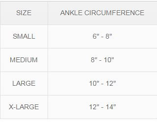scholl ankle support measuring guide