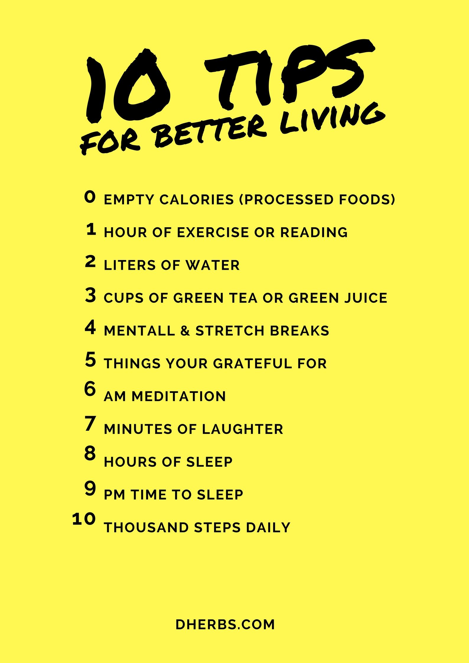 a guide to better living