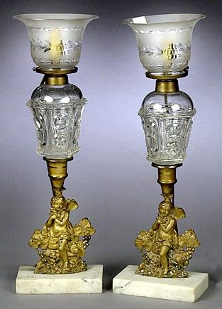 antique oil lamps price guide