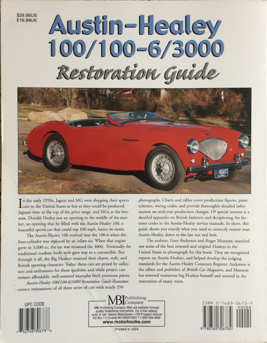 austin healey 100 100 6 3000 restoration guide