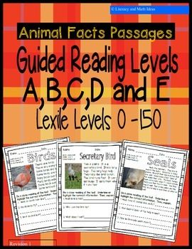 leveled passages for guided reading