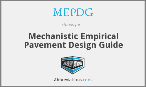 mechanistic empirical pavement design guide