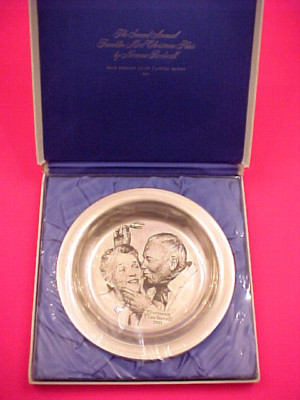 norman rockwell plates price guide