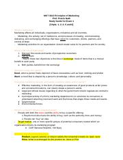principles of marketing study guide